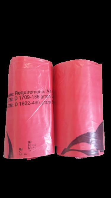 Red Trash Bags (2 rolls) $18.0